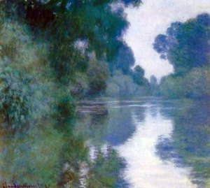 """""""Branch of the Seine near Giverny"""" by Claude Monet"""