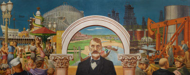 """Abbot Kinney and the Story of Venice"" by Edward Biberman"
