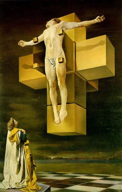 """Crucifixion (Corpus Hypercubus)"" by Salvador Dail"