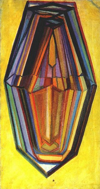 """""""Matiushin Self Portrait Crystal"""" by Mikhail Matiushin"""