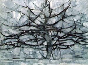 """Gray Tree"" by Piet Mondrian"