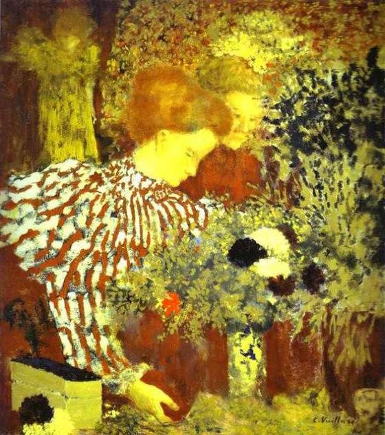 """Le corsage rayé"" by Edouard Vuillard"