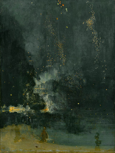 """""""Nocturne in Black and Gold: The Falling Rocket"""" by James McNeill Whistler"""