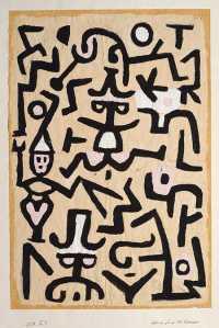 abstract art - Comedian's Handbill - Paul Klee