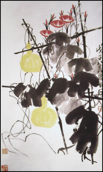 "Qi Baishi's ""Morning Glory and Calabash"""